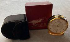 1950s Jaeger Alarm Travel Clock With Original Case & Box