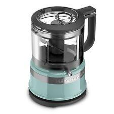 New KitchenAid 3.5 Cup Mini Food Processor Chopper Aqua Sky KFC3516AQ