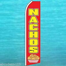 Nachos Flutter Flag Food Concession Feather Swooper Advertising Banner Sign 1193