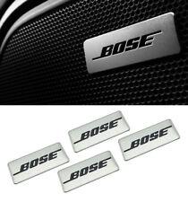 4x BOSE Logo Auto Audio Lautsprecher Aluminiumplatten Abzeichen Emblem Aufkleber
