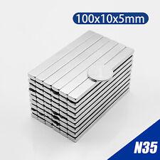100x10x5 Mm N35 Magnet Neodymium Bar Long Cuboid Super Strong Rare Earth Magnets