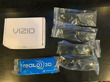 4 Pairs VIZIO THEATER 3D glasses And 1 Pair Real D 3D