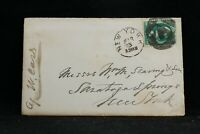 New York: NY City 1875 3c Banknote Cover + Letter, Fancy Negative 12 Cancel