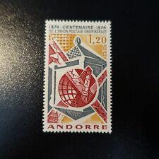 ANDORRA FRANCÉS Nº242 CENTENARIO LA UPU NEUF MNH