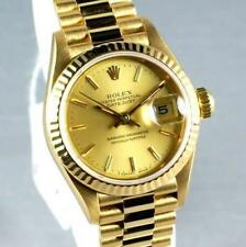 LADIES ROLEX PRESIDENTIAL 18K W/ GOLD CHAMPAGNE DIAL & SOLID GOLD PRESIDENT BAND