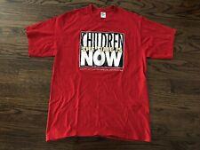 VTG 90s Jerzees Children Advocates The Time Is Now Single Stitch T-Shirt Sz XL