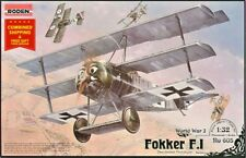 Roden 605 - 1/32 - Fokker F.I German fighter-triplane WWI plastic model kit