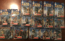 LOT 15 NEW NIP Star Wars Hasbro Attack of the Clones Action Figures 2002
