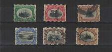 U.S.A. États-Unis 1901 exposition de Buffalo série de 6 timbres oblitérés /T1977
