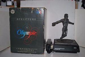 Vintage Marcel Jovine 1984 Olympics Sculpture Discus Thrower Plus Phone Rare