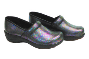 Sanita Hygge Wave Clogs - best nurse shoes clogs - comfortable - Shine leather