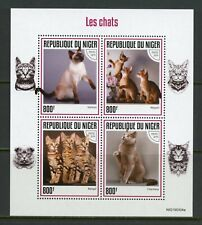 NIGER 2019 CATS SHEET  MINT NEVER HINGED