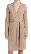 Cabernet Beige/Tan Silk & Cashmere Long Sleeve Robe Housecoat Large L New