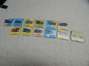 12Pc.Set of 1977 COLLECTIBLE VINTAGE CAR MATCH BOOKS BY OHIO MATCH Co1906-1920's