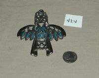 nickle silver turquoise pendant #424