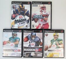 PS2 Madden Football Game Lot 2003 06 07 09 NCAA 2K3 PlayStation 2 All Complete
