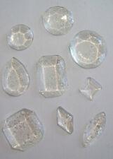 Pack of 14 Edible Sugar Art Cake Cupcake Jewels Diamond Decoration Gems CLEAR