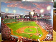 "7 1/2"" X 5 1/2"" Fenway Park Boston Red Soxs Thomas Kinkade Promo Print"