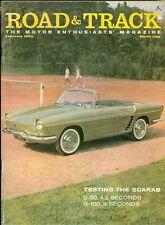1959 Road & Track Magazine: Scarab Test/Tennis