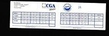 Rick Rhoden & Jim McMahon signed CGA Scorecard 95 Mobil Celebrity CAS COA