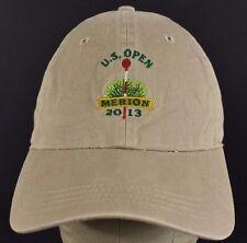 Beige US Open Merion 2013 Barclays embroidered baseball hat cap adjustable strap