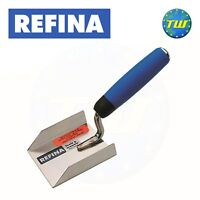 REFINA 3.5in 3 Sided Corner Trowel with Stainless Steel Plastering Blade 227109
