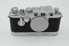 Leica IIIF with red dial and delay action, and Leicavit rapid winder