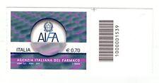 1539 CODICE A BARRE LATO SOTTO  AIFA Agenzia Italiana Del Farmaco 0,70 ANNO 2013
