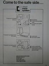 9/1987 PUB MEHLER VARIO SYSTEM FULDA GILET PARE BALLE ARMOUR ORIGINAL AD
