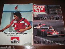 AUTOSPRINT 1976/19=GP F1 SPAGNA=HUNT=NIKI LAUDA=FERRARI=PUBBLICITA MARLBORO