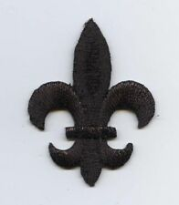 Medium BLACK Fleur De Lis/Saints/Religious - Iron on Applique/Embroidered Patch