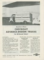 1949 Chevrolet Commercial Trucks Ad Scandinavian Airlines SAS Delivery Panel