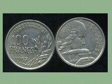 100 francs  1957 B  cochet   ( bis )