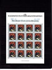 Liechtenstein portraits de visiteurs 1 f  feuille 16 TP n° 783