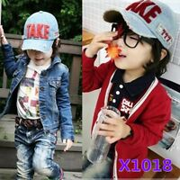 Children Kids Boys Girls Cool Denim Sports Golf baseball Cap Hat Sunhat 1-5yrs