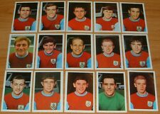 FKS AGEDUCATIFS PANINI FOOTBALL ENGLAND 1968-1969 BURNLEY COMPLETE