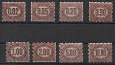 REGNO FRANCOBOLLI DI STATO - 1875 servizio, cifre del valore in 1 ovale 4/412