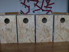 "4 X SMALL AVIARY NEST BOXES FOR BREEDING-COCKATIEL,PARAKEET,KAKARIKI - 13""X8""X8"""