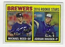 Michael Reed & Adrian Houser Autographed 2016 Topps Heritage Signed Card #259