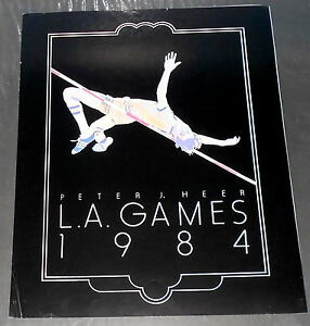 """VINTAGE """"L.A.GAMES 1984""""  OLYMPIC POSTER BY PETER J. HEER"""