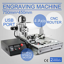 4 AXIS 6040T USB CNC ROUTER ENGRAVER ENGRAVING CUTTER 750X450MM 3D CARVING TOOL