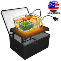 Portable Electric Heated Heating Lunch Box 120V Mini Microwave Oven Lunch Bag