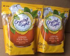 Crystal Light Iced Tea - Lemon Flavor - (2) Bags of 16 Pitcher Packs Each - NEW