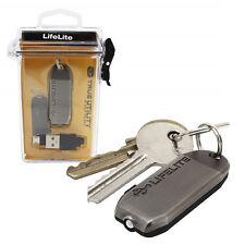 True Utility lifelite USB Ricaricabile Portachiavi Torcia Torcia e Custodia Splash