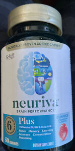 Schiff Neuriva Brain Support Supplement - 50 Gummies