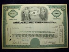 AMERICAN ELECTRIC POWER COMPANY INC. STOCK CERTIFICATE