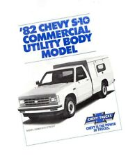 1982 Chevy S-10 Pickup Truck Commercial Utility Body Brochure / Catalog / Flyer