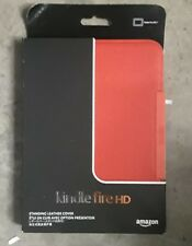 "New Amazon Kindle Fire HD 7"" Standing Leather Cover - Red"