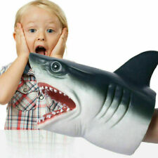 Simulation Shark Hand Puppet Soft Kids Toy Gift Great For jaws Topper Decoration