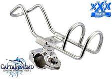 XXX MARINE RAIL MOUNT QUALITY STAINLESS STEEL ROD HOLDER BOAT KAYAK RHS002